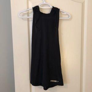 Gymshark Womens Hooded Vest- Black